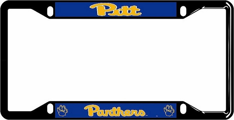 Pittsburgh Panthers License Plate Frame Black 58084