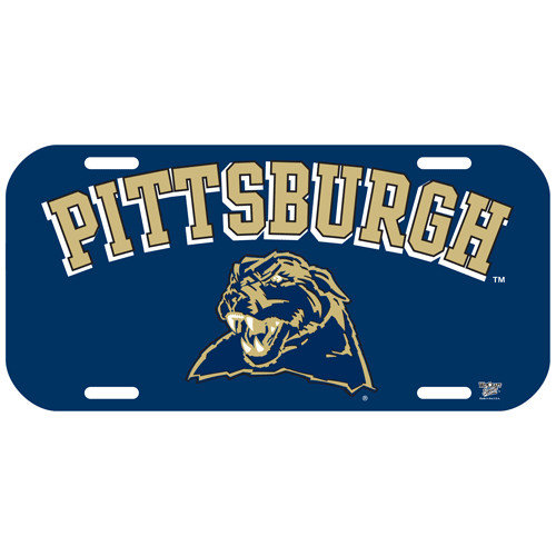 Pittsburgh Panthers Plastic License Plate PITT-148