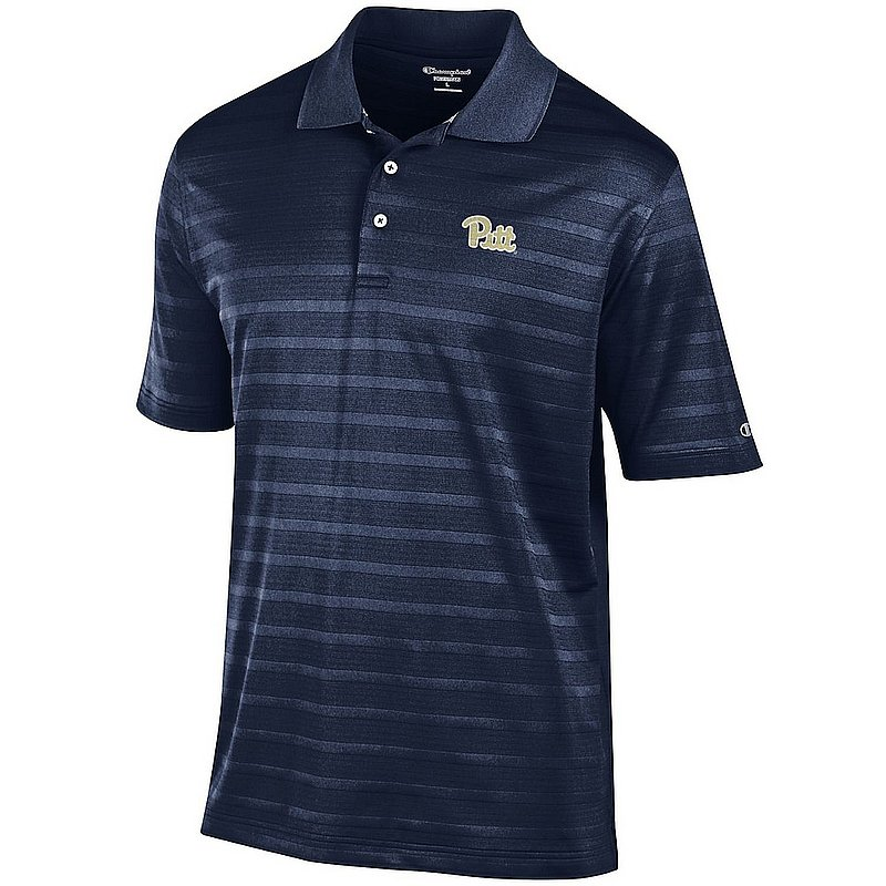 Pittsburgh Panthers Polo Striped Navy AEC02949911
