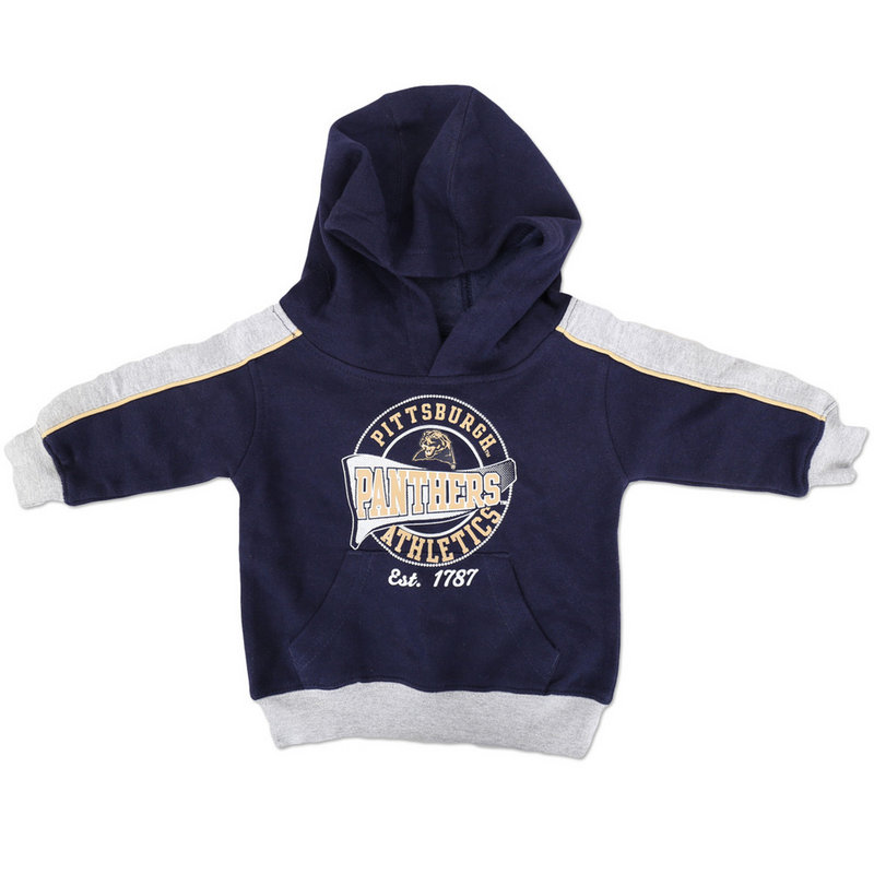Pittsburgh Panthers Toddler Hooded Sweatshirt Gray and Navy