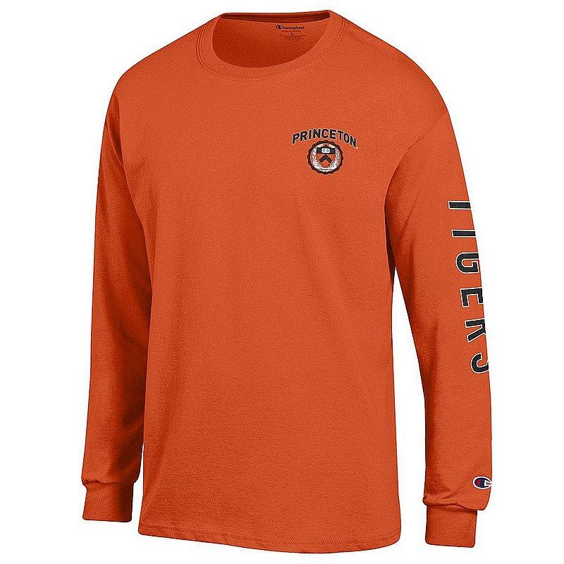 Princeton Tigers Long Sleeve Tshirt Letterman Orange APC03001176-APC03001175