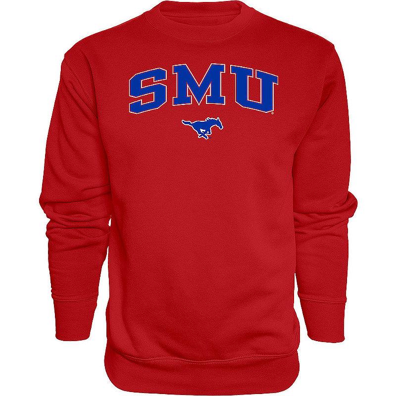 SMU Mustangs Crewneck Sweatshirt Varsity Red APC03376032