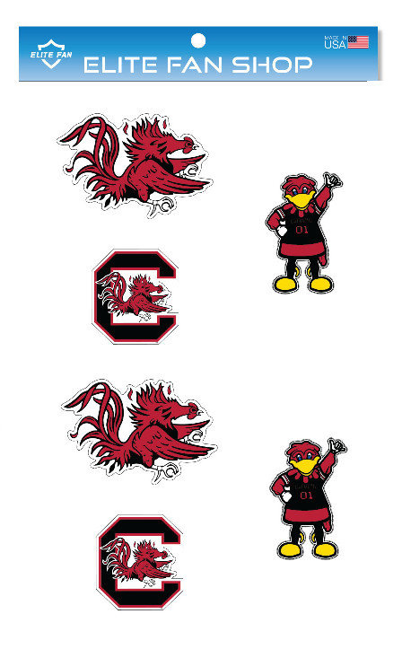 "South Carolina Gamecocks 3"" Vinyl Decal 6-Pack"
