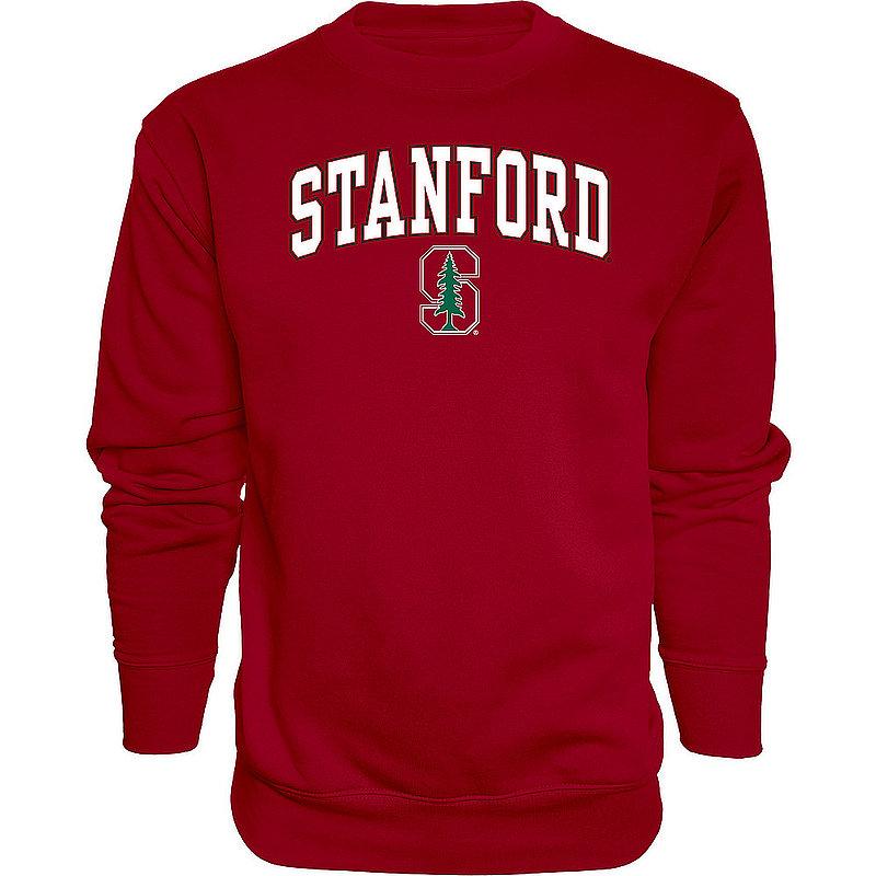 Stanford Cardinal Crewneck Sweatshirt Varsity Cardinal Arch Over APC02879934*