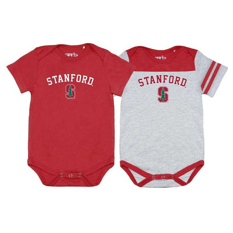 Stanford Cardinal Infant Baby Onesie 2 Pack TOMMY-I-CAR-STANFORD