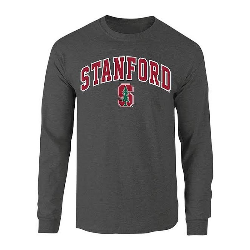 Stanford Cardinal Long Sleeve Tshirt Arch Charcoal P0006778