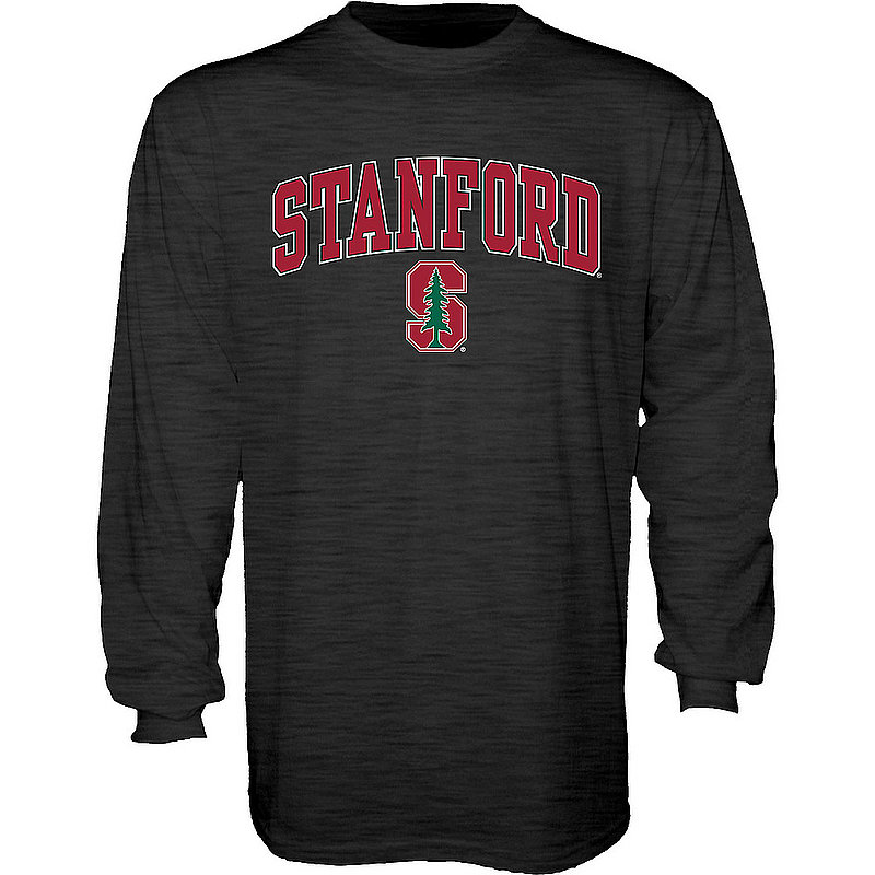 Stanford Cardinal Long Sleeve Tshirt Varsity Charcoal Arch Over APC02885992*