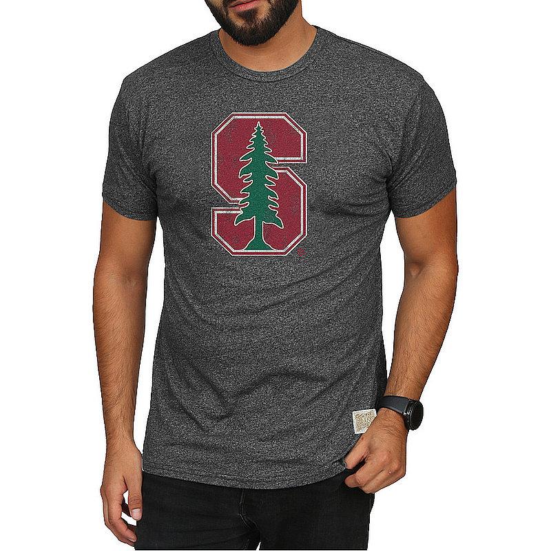Stanford Cardinal Retro Tshirt Charcoal CSTA082C_RB124M_MTCH