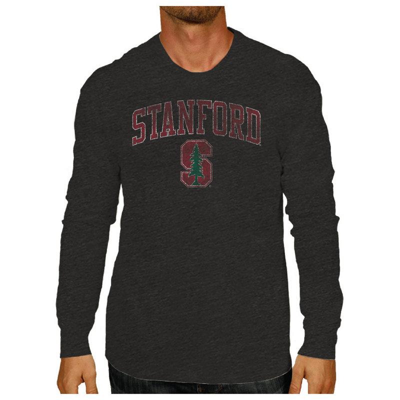 Stanford Cardinal Vintage Long Sleeve Tshirt Charcoal Victory STAV1412B