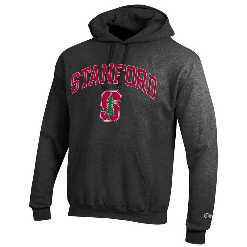 Stanford Cardinals Hooded Sweatshirt Arch Charcoal APC02885992