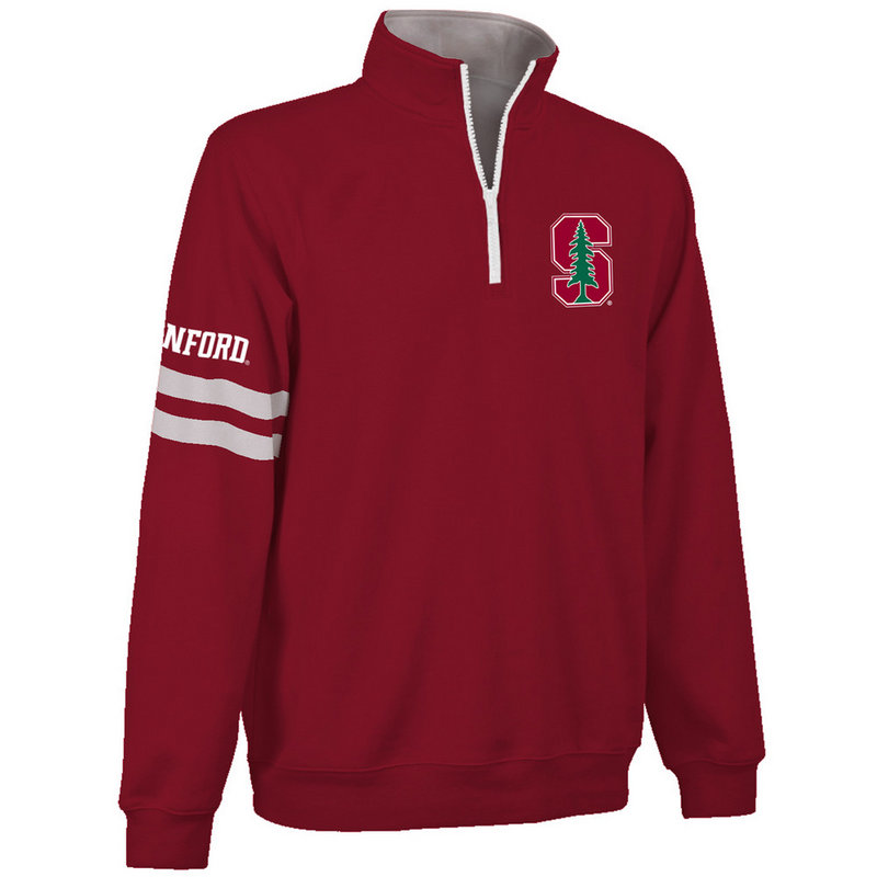 Stanford Cardinals Quarter Zip Sweatshirt Crimson STN9A680
