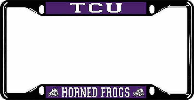 TCU Horned Frogs License Plate Frame Black 22965