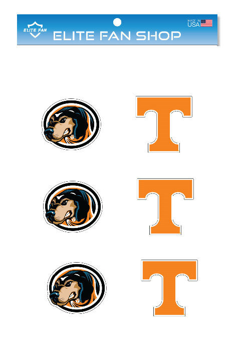 WinCraft NCAA University of Tennessee Volunteers 6 x 6 inch White Decal