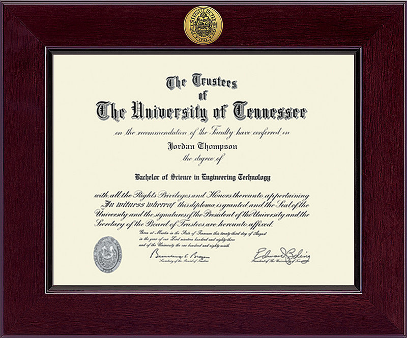 Tennessee Volunteers Diploma Frame 303502