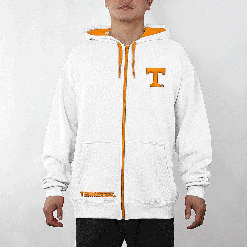 Tennessee Volunteers Full Zip Hooded Sweatshirt Captain White TEN29704