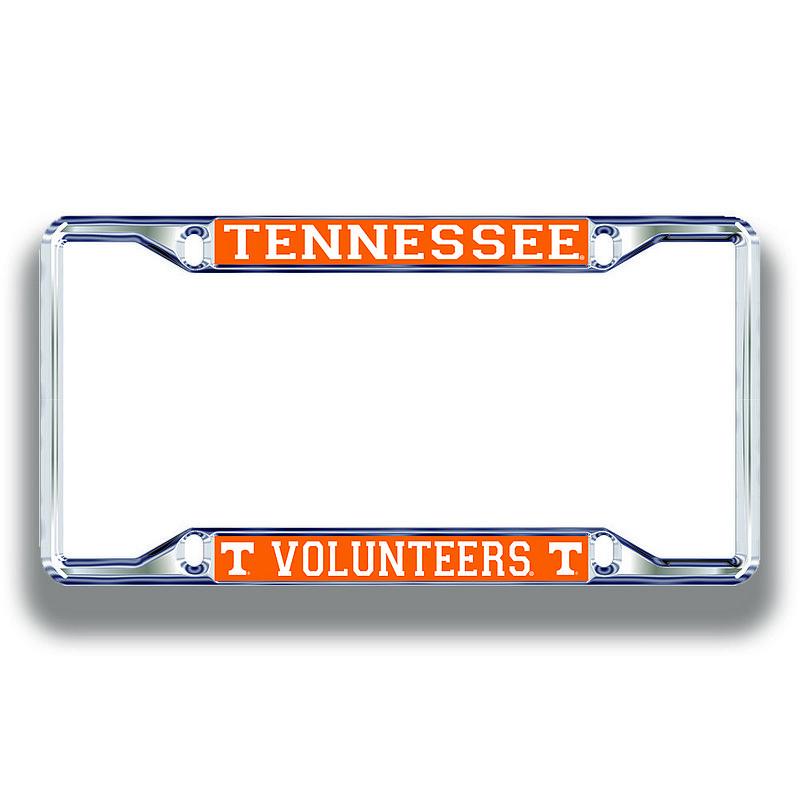 Tennessee Volunteers License Plate Frame Silver 00777