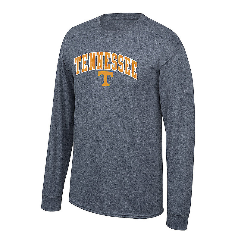 Tennessee Volunteers Long Sleeve Tshirt Arch Charcoal P0006204/APC02886290
