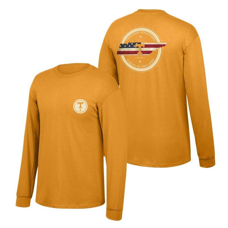Tennessee Volunteers Long Sleeve Tshirt State Patriot TENNStatePatriot