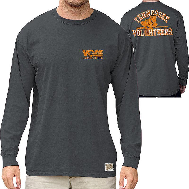Tennessee Volunteers Pocket Long Sleeve TShirt Charcoal RB406