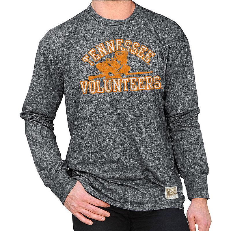Tennessee Volunteers Retro Long Sleeve TShirt Charcoal RB424