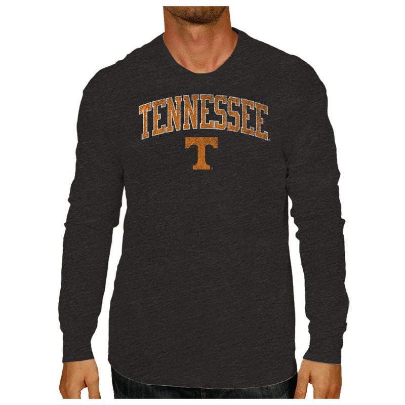 Tennessee Volunteers Vintage Long Sleeve Tshirt Charcoal Victory TENV1412B_TV402M_HBK