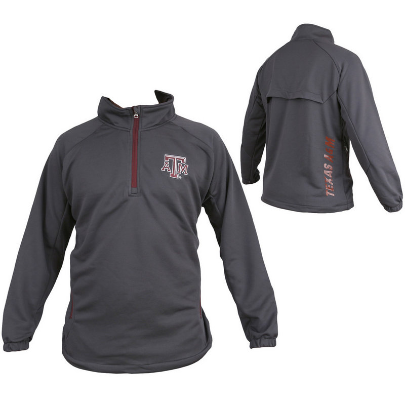 Texas A&M Aggies 1/4 Zip Performance Sweatshirt Aviator