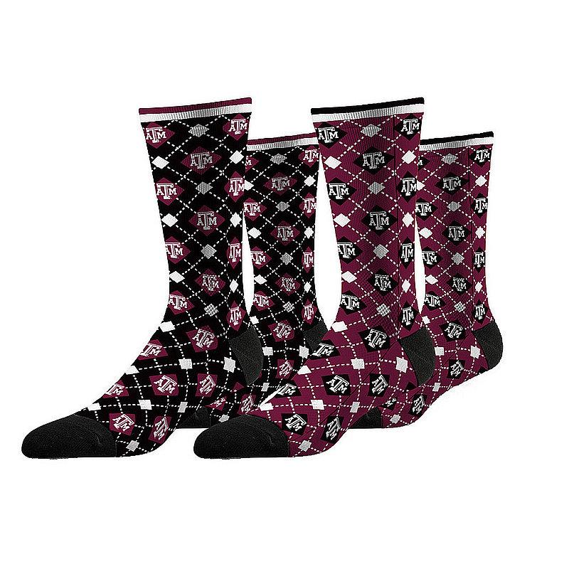 Texas A&M Aggies Argyle Sock 2-Pack
