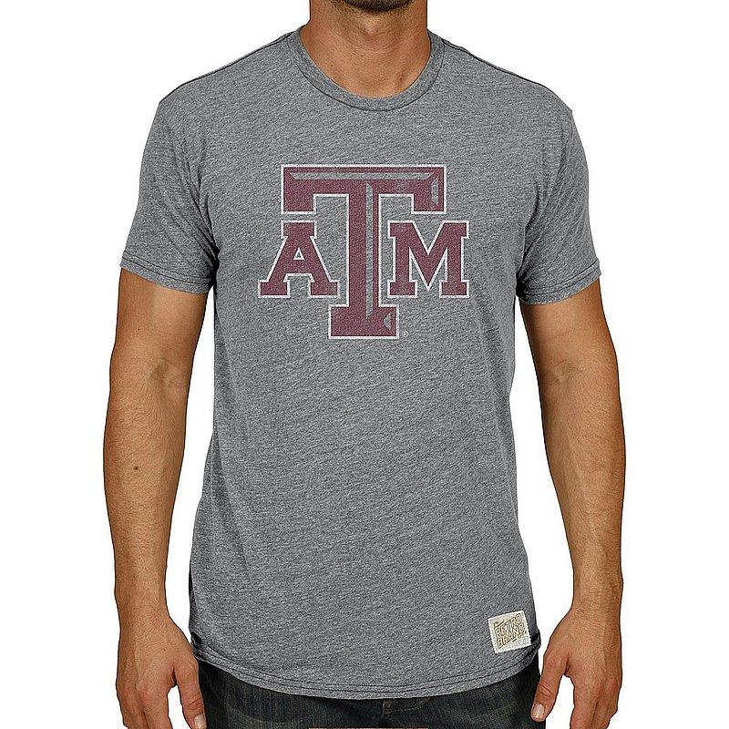 Texas A&M Aggies Big & Tall Tshirt Gray Vintage 1XB to 5XB and XLT to 5XLT CTAM065BX_RB120M_STG