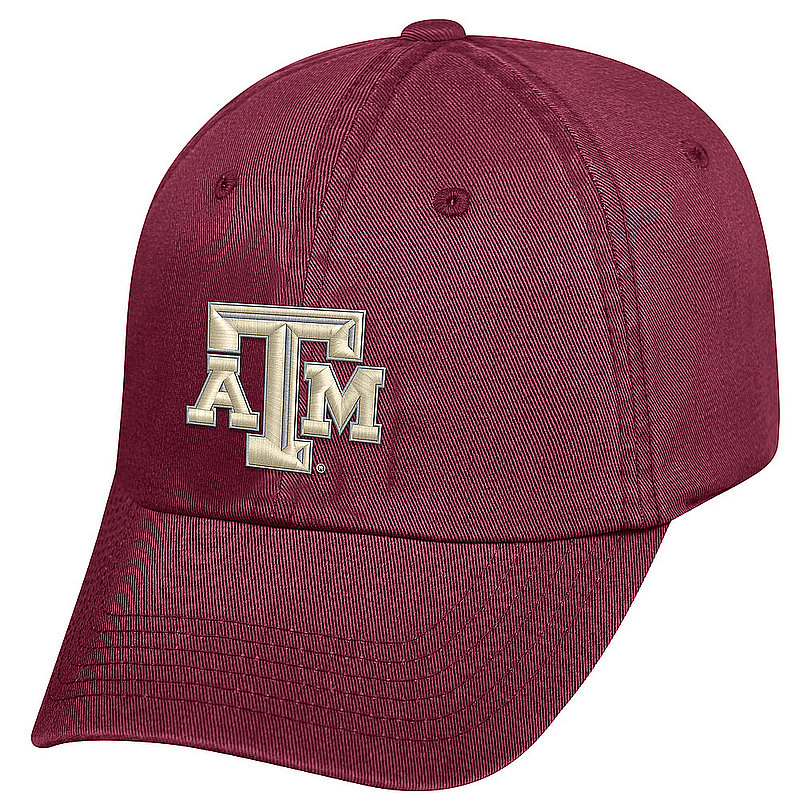 Texas A&M Aggies Fitted Hat Icon Maroon VICT1-TXAM-1FT-TMC