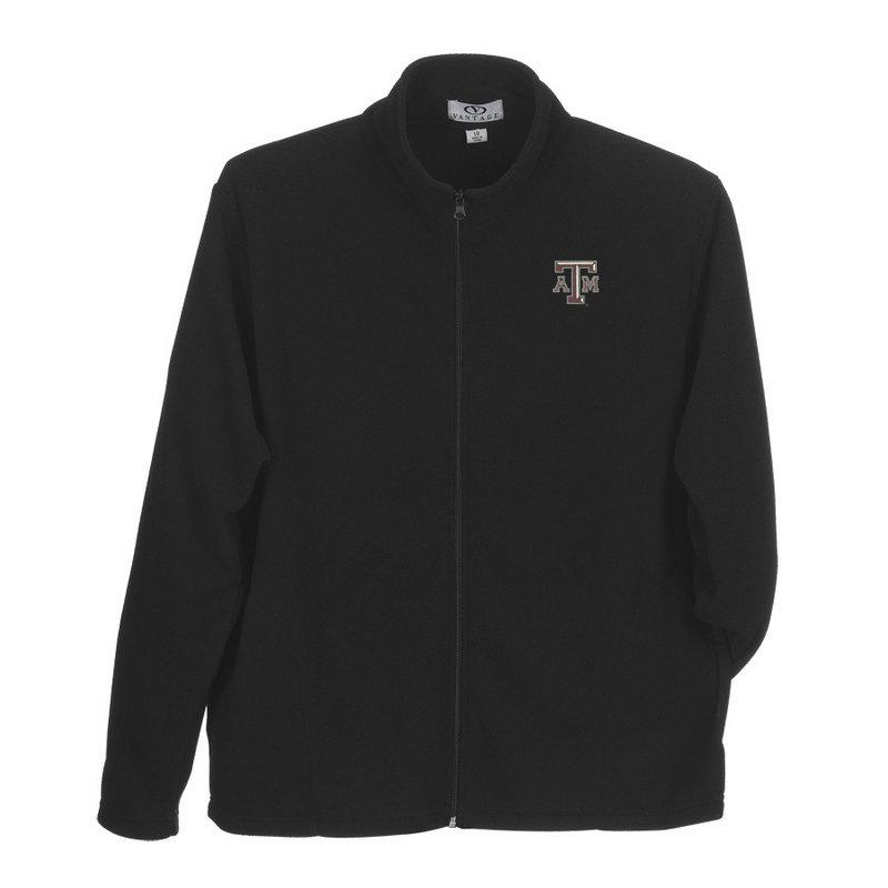 Texas A&M Aggies Fleece Full Zip Jacket Black