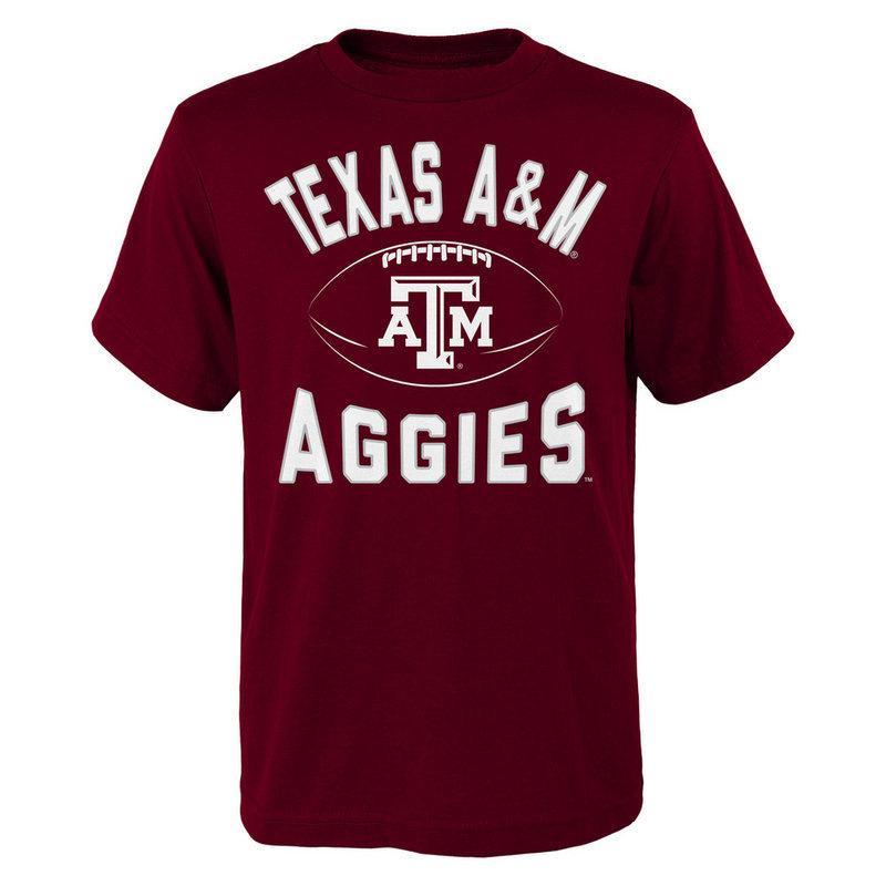 Texas A&M Aggies Football T Shirt Maroon