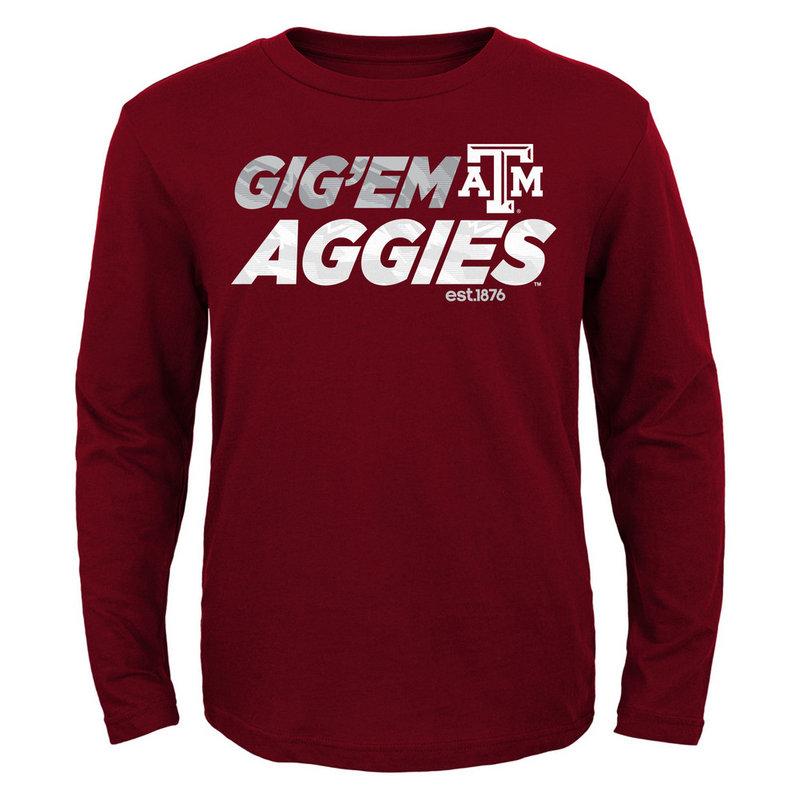 Texas A&M Aggies Game Time Long Sleeve TShirt Maroon
