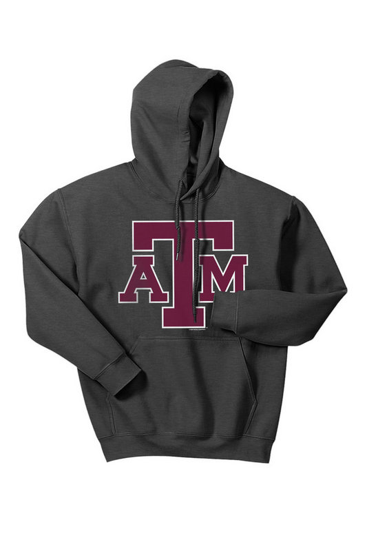 Texas A&M Aggies Hooded Sweatshirt Charcoal Icon TAMCHSC3166