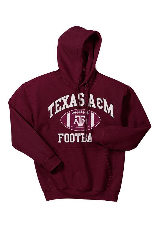 Texas A&M Aggies Hooded Sweatshirt Maroon Football TAMCHSC3162