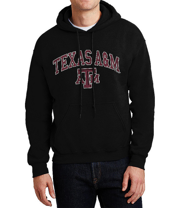 Texas A&M Aggies Hooded Sweatshirt Varsity Black APC02880047