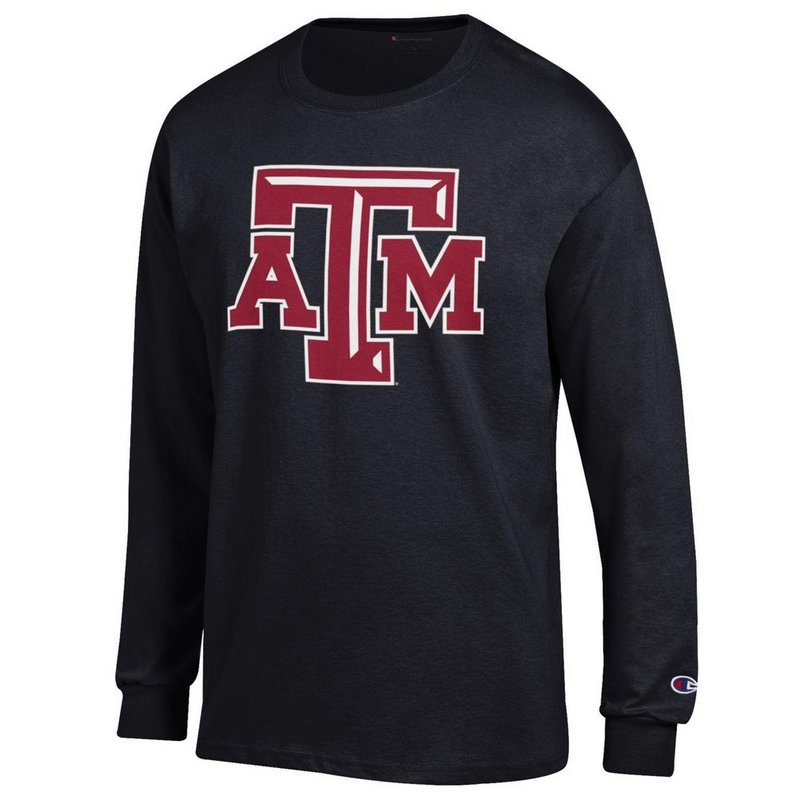 Texas A&M Aggies Long Sleeve Tshirt Icon Black APC02880078