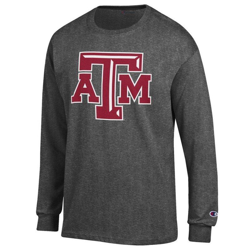 Texas A&M Aggies Long Sleeve Tshirt Icon Charcoal APC02880078