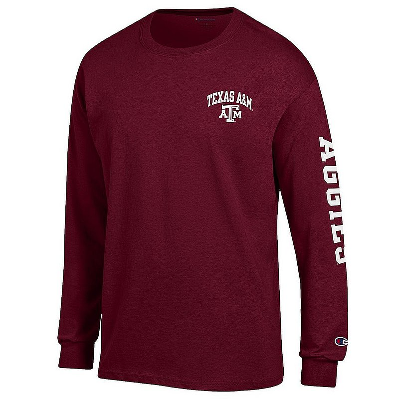 Texas A&M Aggies Long Sleeve TShirt Letterman Maroon APC02990821/APC02990823