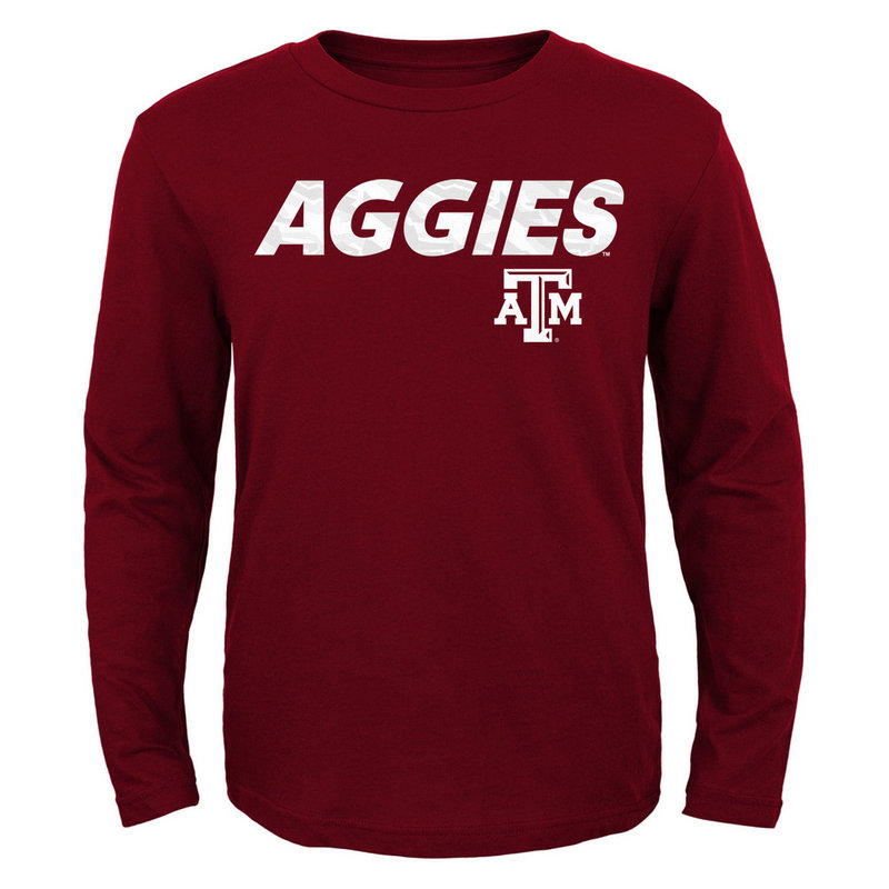 Texas A&M Aggies Long Sleeve TShirt Maroon 405FD Texas A&M
