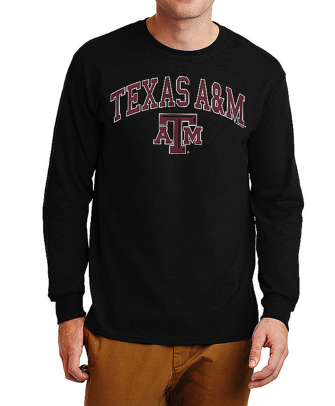 Texas A&M Aggies Long Sleeve Tshirt Varsity Black APC02880047