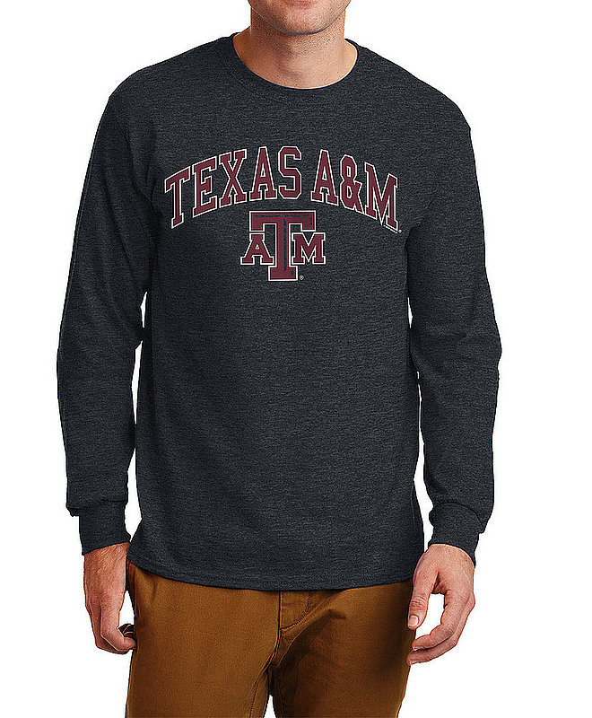 Texas A&M Aggies Long Sleeve Tshirt Varsity Charcoal APC02880047