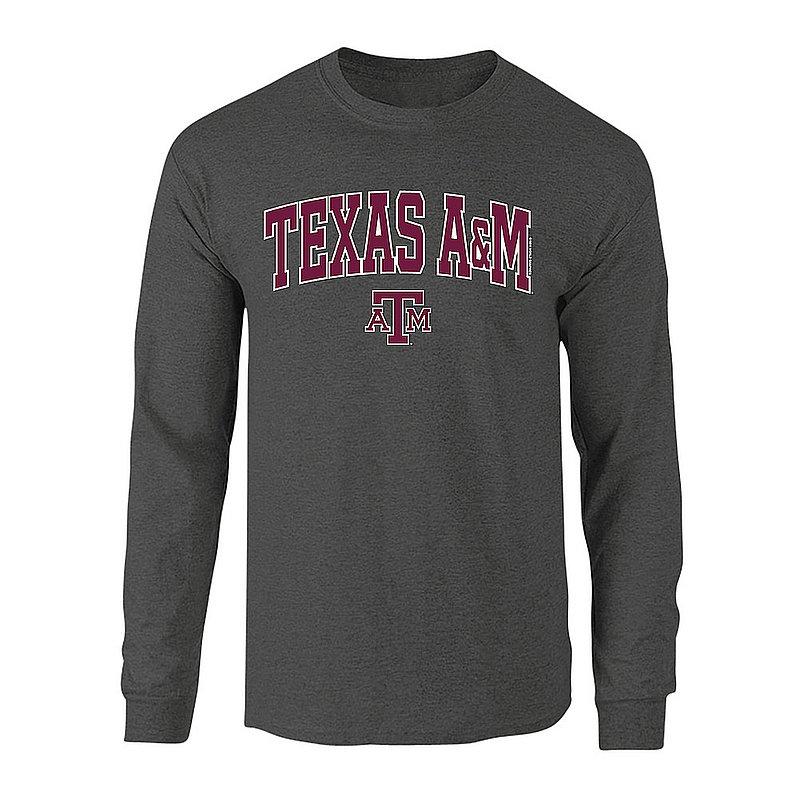 Texas A&M Aggies Long Sleeve TShirt Varsity Charcoal TAM CHSC1920