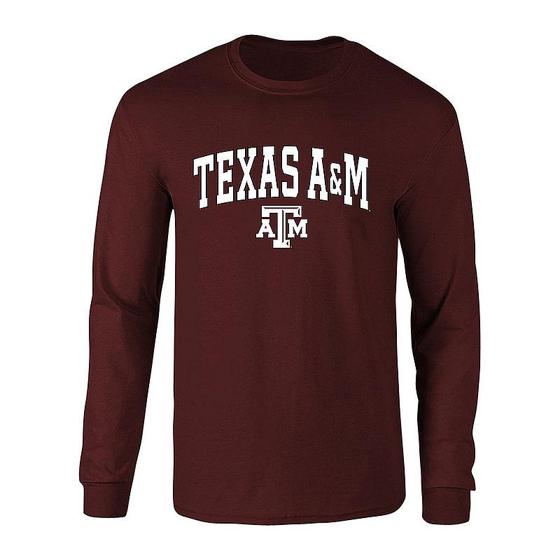 Texas A&M Aggies Long Sleeve TShirt Varsity Maroon TAM CHSC1910