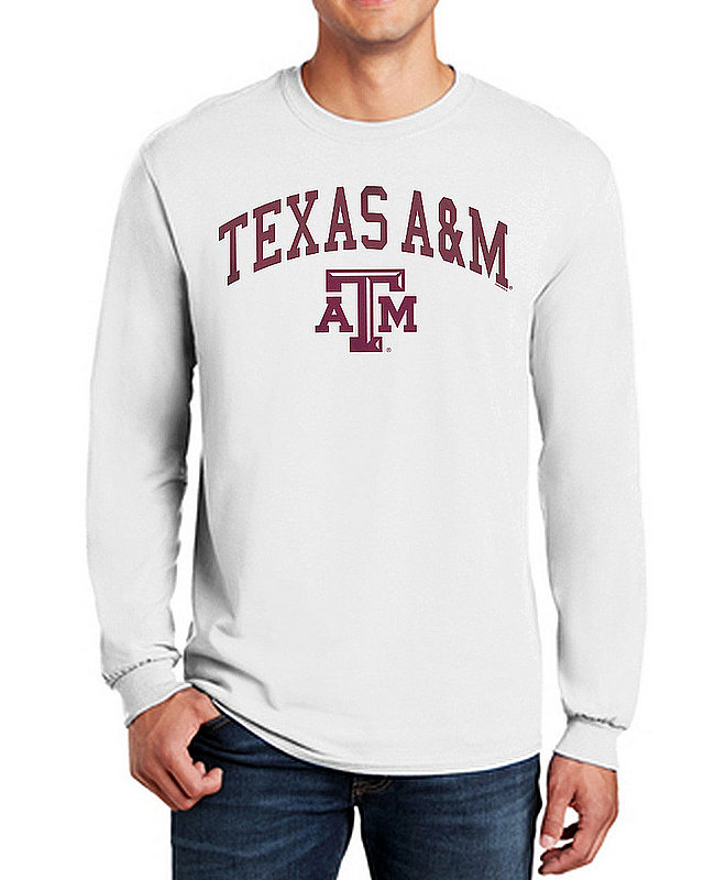 Texas A&M Aggies Long Sleeve Tshirt Varsity White APC03333914