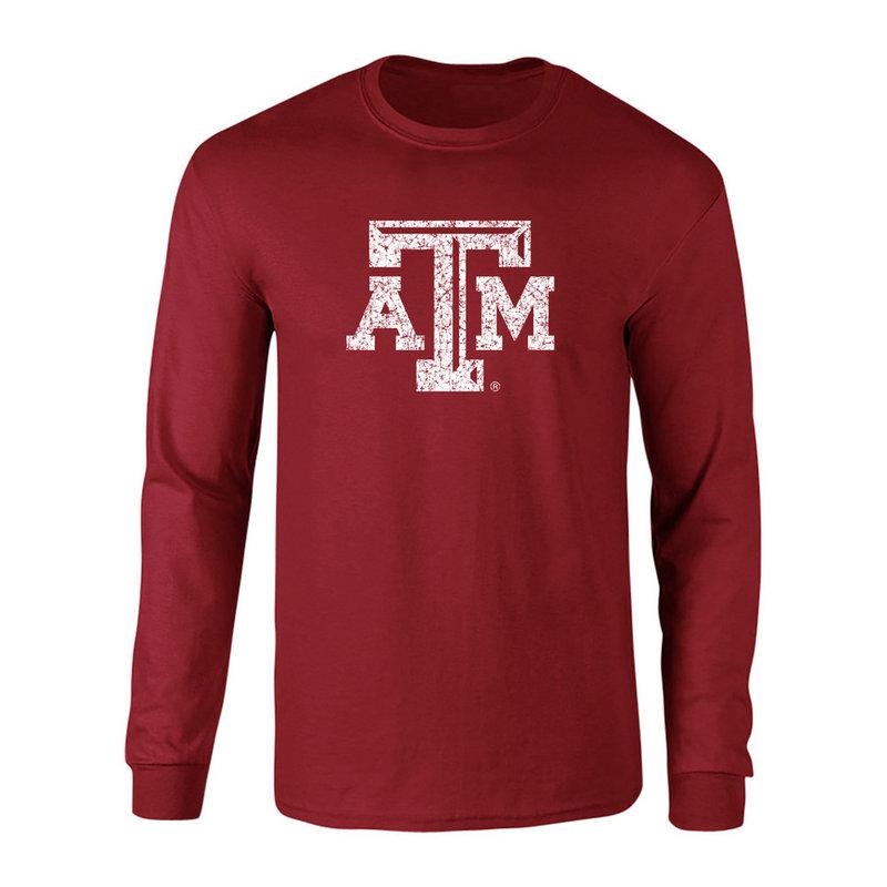 Texas A&M Aggies Long Sleeve Tshirt Vintage Icon Maroon TAMCHSC3116GMR