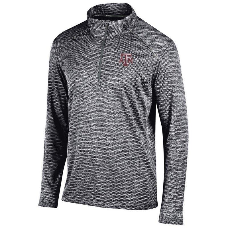 Texas A&M Aggies Quarter Zip Shirt Black APC02613141