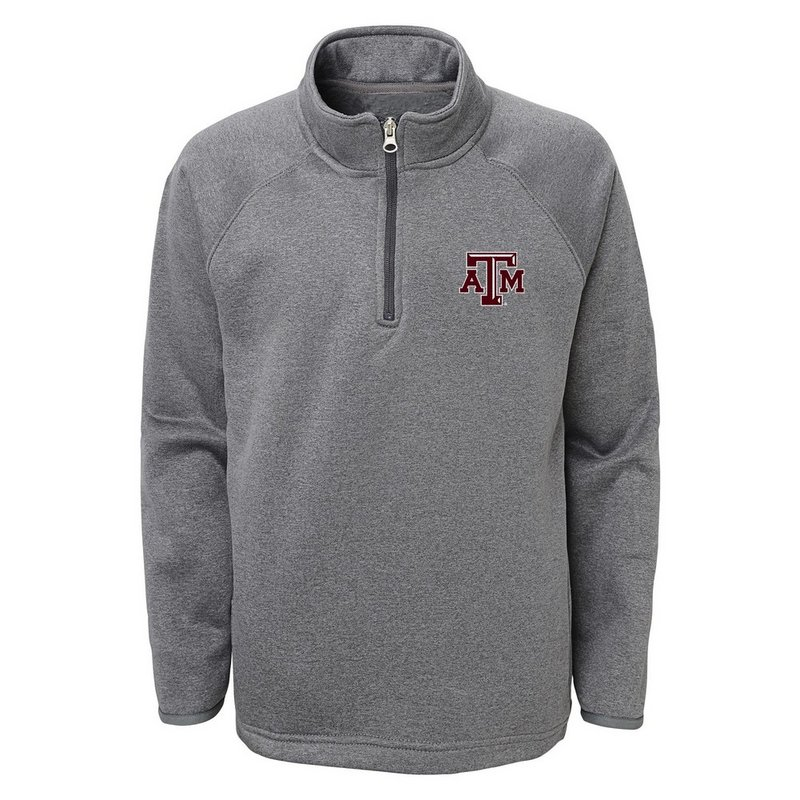 Texas A&M Aggies Quarter Zip Track Jacket Gray
