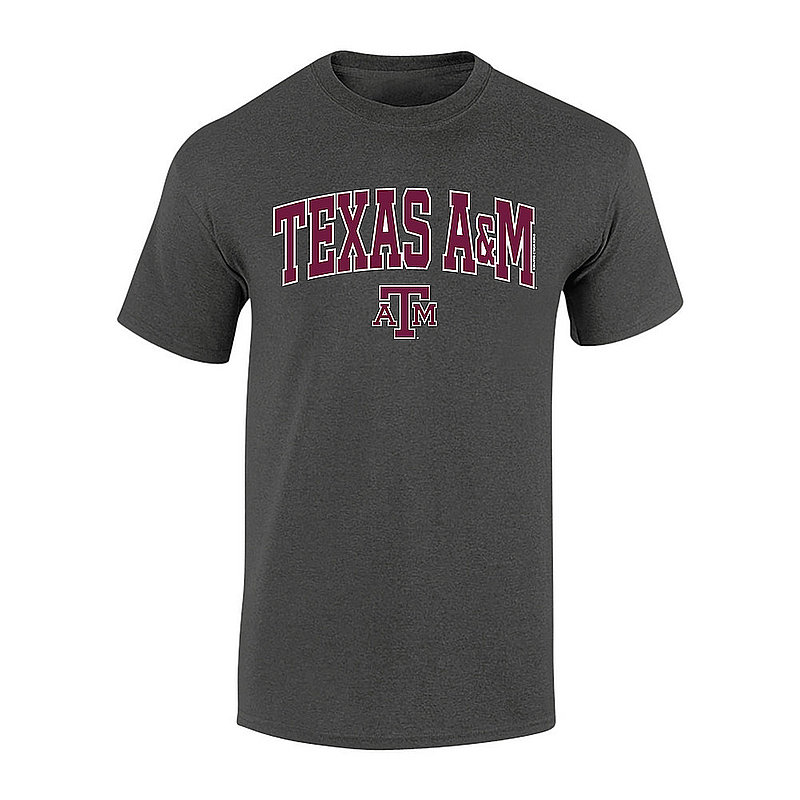 Texas A&M Aggies Tshirt Arch Over Plus Size Charcoal