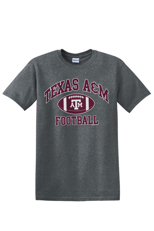 Texas A&M Aggies Tshirt Charcoal Football TAMCHSC3161