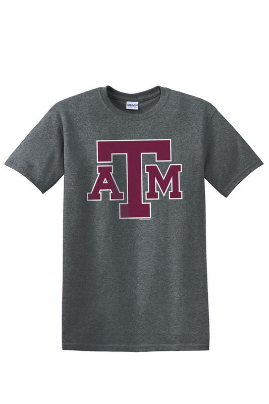 Texas A&M Aggies Tshirt Charcoal Icon TAMCHSC3166